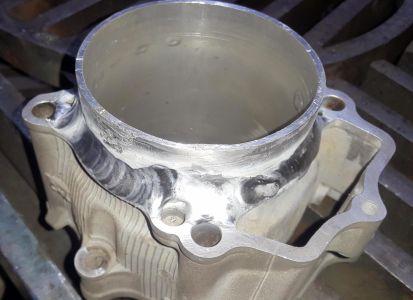 wymiana tulei aluminiowej, spawanie